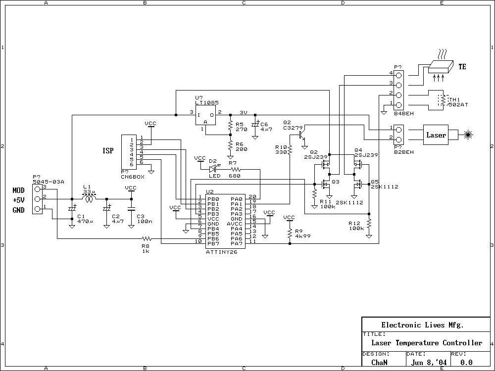 Схема контроллера лазерная