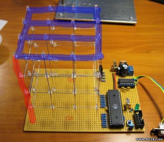 LED Cube LED Cube 4x4x4 using
