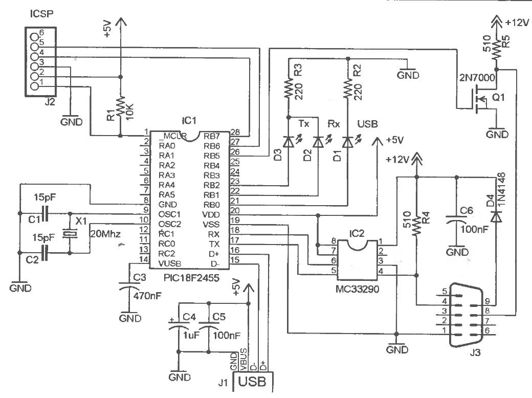 k line адаптер usb схема и плата