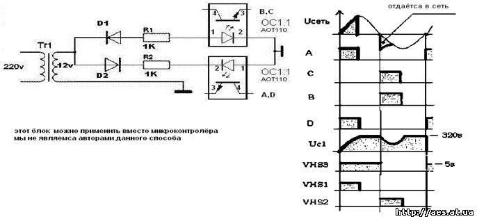 схемы отмотке электросчетчика