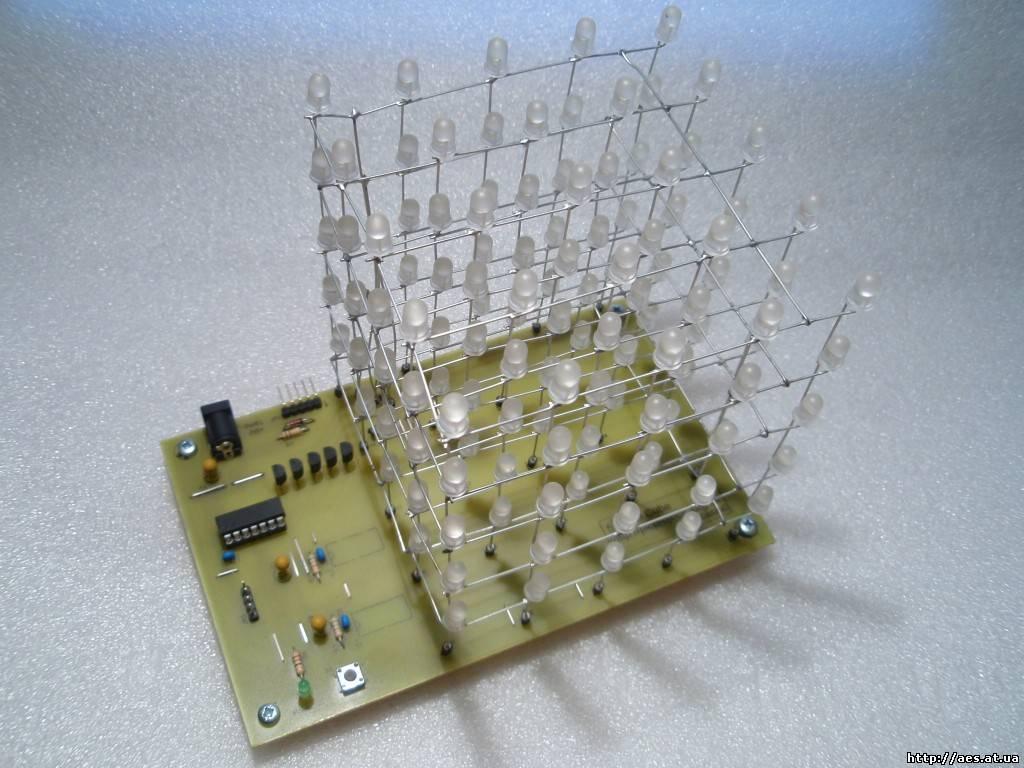 схема куб светодиодах