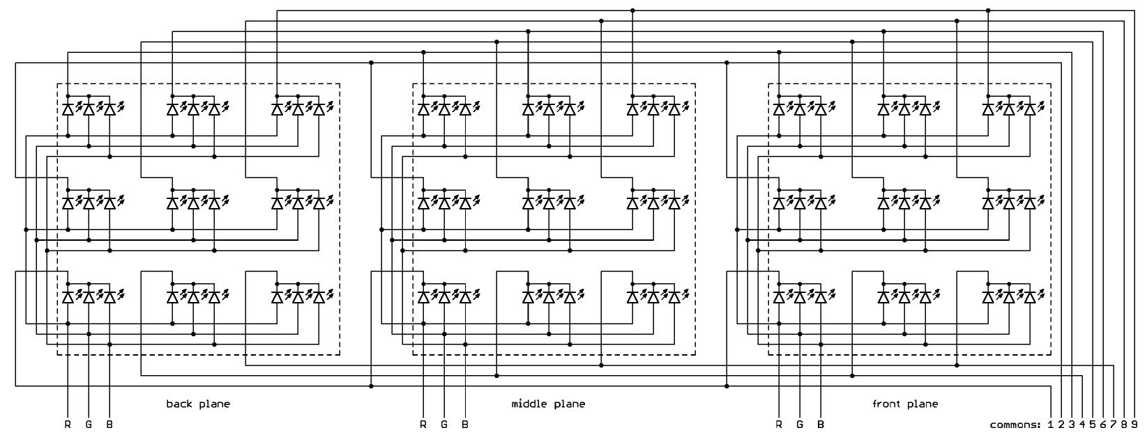 Rgb светодиодный куб 8х8х8 своими руками схема 50