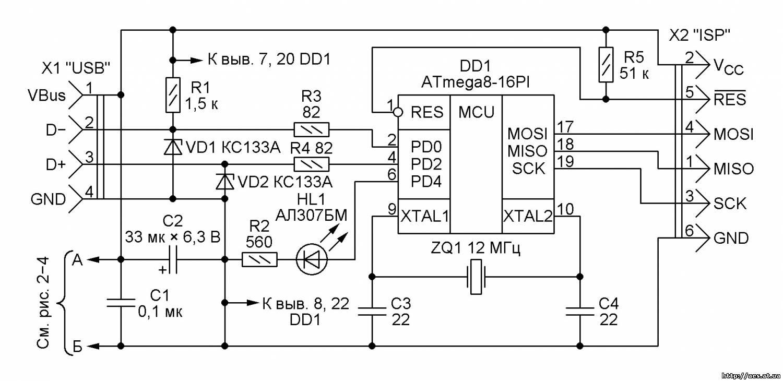 схема реально рабочего usb k line адаптера