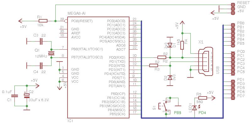 Схема подключения джойстиков