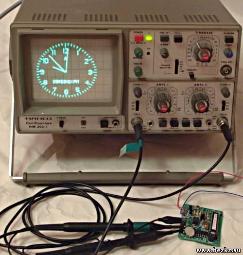 Осциллограф - часы