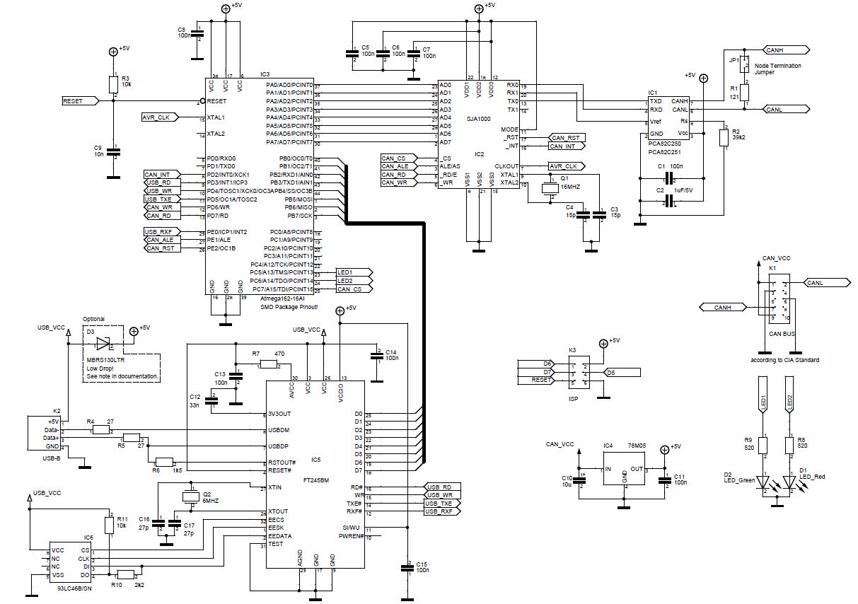 Схема адаптера can bus