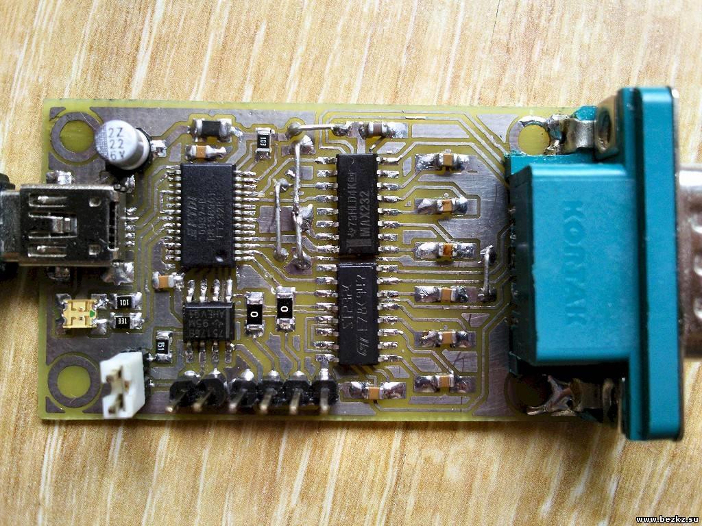 схема usb rs-232 и печатка на maxim232cpl