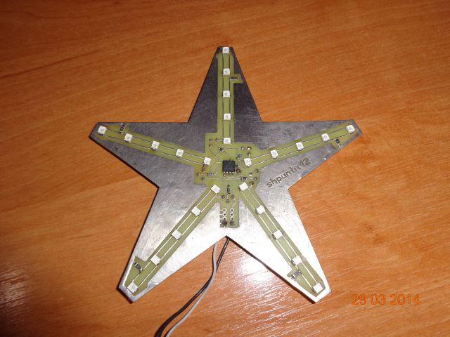 Мигающая звезда с SMD светодиодами
