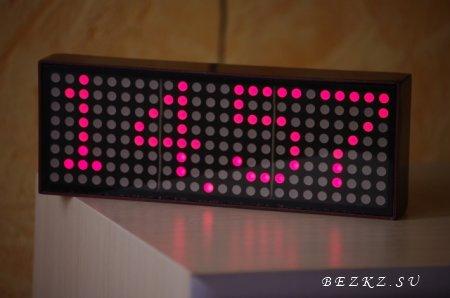 Простые часы на светодиодных матрицах