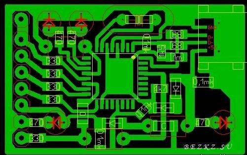 Программатор для pic avr-печатная плата