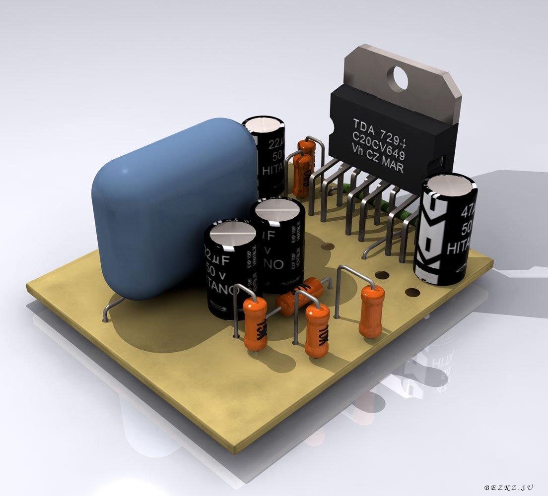 микросхема tda7294 схема с выходом 100ват