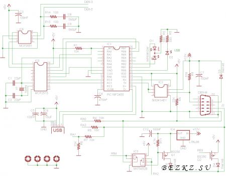диагностический адаптер схема