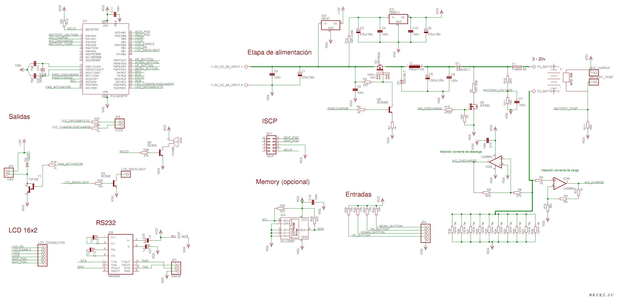 Схема автоматическое зарядного на микроконтроллерах