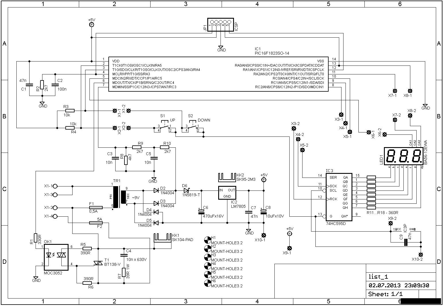 схема регулятора оборотов злектродвигателя на симисторе